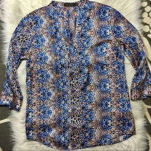 The Limited pattered career blouse top size M